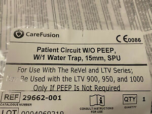 Carefusion Patient Circuit W o Peep W 1 Water Trap 15mm Spu Ref 29663 001