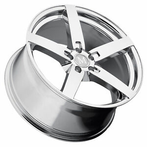 1 New 20x10 Mandrus Arrow Chrome Wheel Rim 5x112 5 112 20 10 Et35