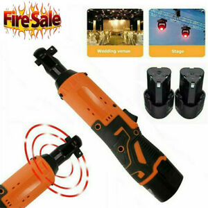 12v 3 8 Cordless Electric Ratchet Wrench Degree Power Tool 2 Battery Charger