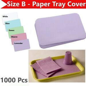 1case 1000 Pcs Dental Paper Tray Cover Size B 12 25 X 8 5 All Colors