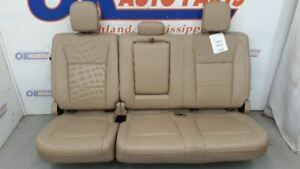 2017 F250 F350 Super Duty Lariat Crew Rear Seat Assembly Tan Leather Heated