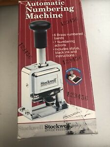 Stockwell 6 Wheel Automatic Numbering Machine In Original Box