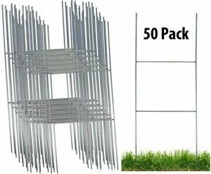 Sturdy Metal H Frame Wire Step Stakes For Yard Signs 10x30 Sign Not Included
