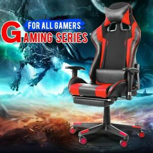 gaming Chair Racing Style 100 Authentic Pu Leather Swivel Chair