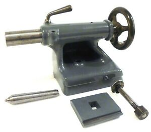 South Bend Metal Lathe 9 Tailstock Assembly Mt2 Dead Center Excellent Usa