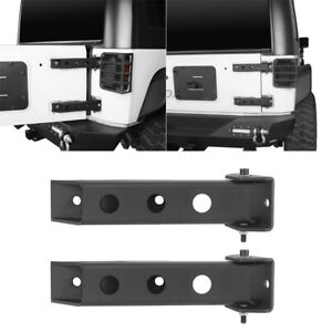 For Wrangler Jeep Jk 07 18 Pair Steel Tailgate Door Hinge Replaced Mounting Set
