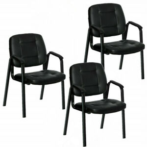 3pcs Waiting Room Reception Chair Office Guest Chair Conference Chair Pu Leather