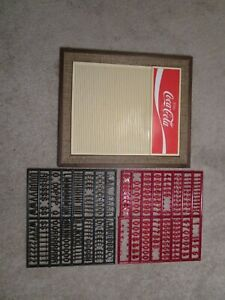 VINTAGE COCA COLA MENU BOARD WITH LETTERS AND NUMBERS