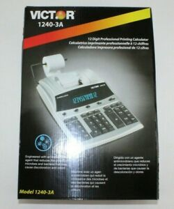 Victor 1240 3a Antimicrobial 12 Digit Professional Printing Calculator 2 Color