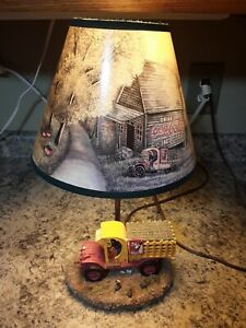 Coca Cola Lamp With Delivery Truck and Cat Shade
