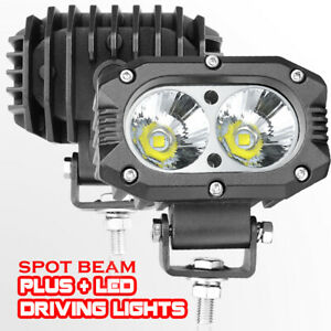 2x 4 52w Led Work Light Bar Spot Round Square 6500k Offroad 4wd Driving Fog 12v