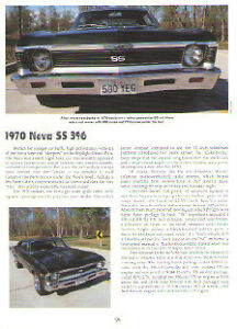 1970 Chevy Nova Ss 396 Article Must See