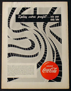 1951 COKE COCA-COLA  9 X 12 PROMOTIONAL ADVERTISEMENT MOVIE THEATER FILM AD