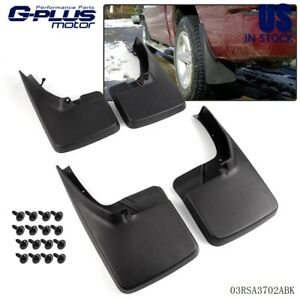 Pair Mud Flaps Splash Guards Mudflaps For 2009 2018 Dodge Ram 1500 2500 3500