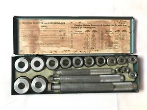 Vintage Blackhawk Hand Tools Bushing Remover Set In Metal Box