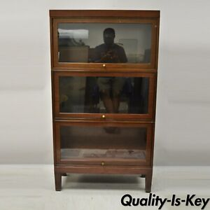 20th C Shaw Walker Steel Metal Industrial Barmister Stacking Lawyer S Bookcase