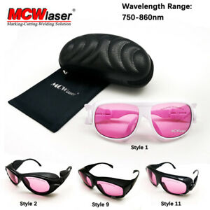 Mcwlaser Laser Safety Glasses Goggles 750 850 765 830nm Typical 755nm 808nm