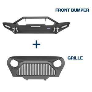 Off road Front Bumper Grille Cover Fit Jeep Wrangler Tj 1997 2006 Unlimited