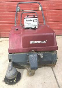 Minuteman Kleen Sweep 35w Scrubber New Batteries Power Charger Warrant Free Ship