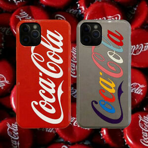 Cute Cartoon Silicone Coca Cola Phone Cover Case For iPhone 8 7 11 Pro XR XS MAX