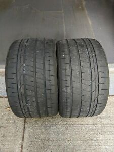 Like New P305 30zr19 Pirelli Pzero Corsa Asimmetrico Pair Take Offs