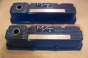 Vintage M t Holley 351c Ford Valve Covers Boss 351 Cougar Eliminator 103r 40b