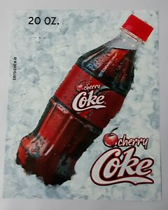 Coca cola Vending Machine Cherry Coke 20oz Bottle Label Insert