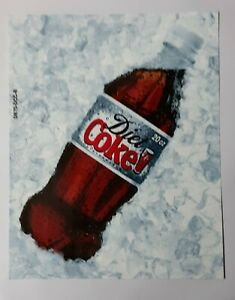 Coca cola Vending Machine Diet Coke 20oz Bottle Label Insert