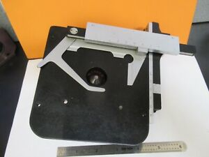 Leitz Germany Stage Table Xy Micrometer Microscope Part As Pictured 14 ft 30