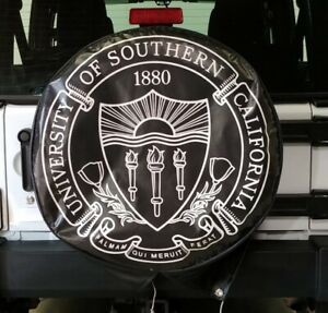 Jeep Spare Tire Cover Univ Of Southern California 32 Diameter 11 Wide Used