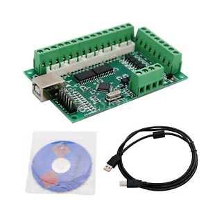 Mach3 Cnc Breakout Board Usb 100khz 5 axis Interface Driver Motion Controller t