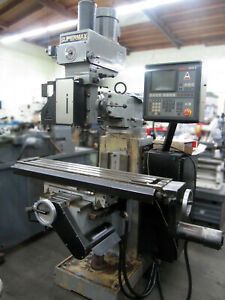 1999 Supermax Ycm 16vs Cnc Knee Type Mill W 3 axis Anilam Control 9 x49 Table
