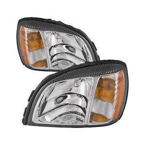 Headlights Pair Left Right Set Fits 2004 2005 Cadillac Deville