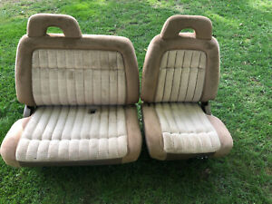 1988 94 Chevy Gmc Silverado 1500 Sierra Truck 60 40 Tan Electric Seat