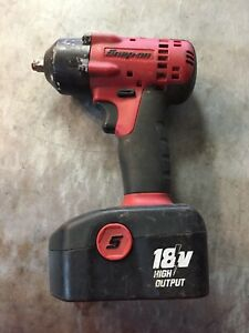 Snap On Impact Wrench Kit Ct4418 18v 3 8 Drive For Parts Or Repair Only