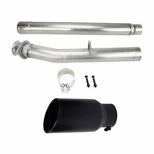 4 cat dpf Delete Pipe No Bung black 4 in 7 out Diesel Tip For 08 10 Ford 6 4l