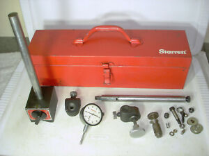 Starrett No 659 Magnetic Base With No 25 441 Dial Indicator All Heavy Duty