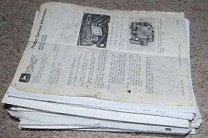 Huge Lot John Deere Product Services Information And Installations Instructions