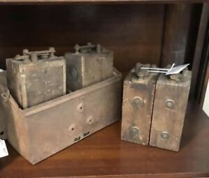 4 Antique Ford Model T Ignition Coils And Box Untested