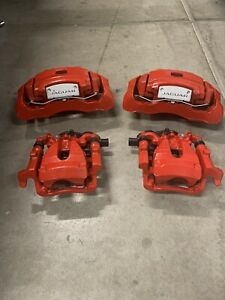 2016 2018 Jaguar F Type Red Powder Coated Brake Calipers Front Rear