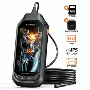 Depstech Ds450 Endoscope 5 0mp Inspection Snake Camera Borescope W 4 5in Screen