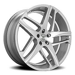 24x10 Lexani 668 Bavaria Silver W machined Face Wheels 6x5 5 30mm Set Of 4