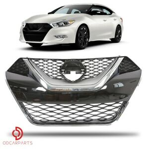 Fits Nissan Maxima 2016 2018 Front Upper Grille Chrome Abs Factory