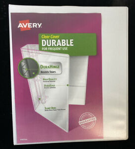 Lot Of 11 Clear Cover Durable 1 2 3 Ring White Binders Durahinge School Office