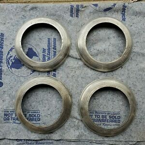 Vintage 1940 1948 Ford Accessory Beauty Trim Rings Wheel Flathead Deluxe Mercury