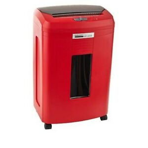 Embassy 9 sheet Microcut Paper Shredder With Auto Feed red