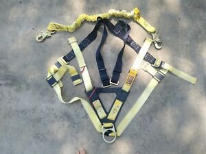 Dbi sala Construction Climbing Safety Harness Universal Fit 1103321 And Lanyard