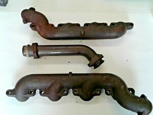 Ford I H I 73l Powerstroke Set Of Exhaust Manifolds Used