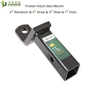 4 Drop 2 Rise Trailer Hitch Ball Mount For 2 Inch Receiver 1 Inch Hole 6000lbs