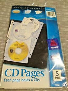 Avery Two Sided Cd Pages Acid Free 5 Ct 75263 For 3 Ring Binder